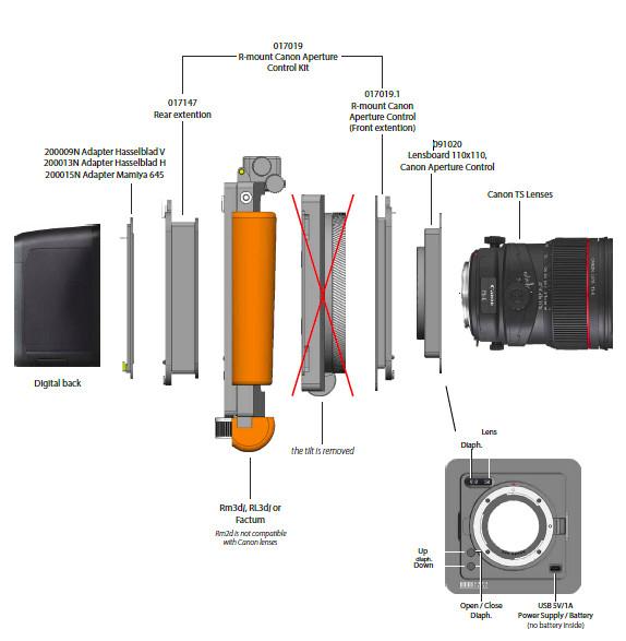 R -Distanzring Spezial Fuji GFX 50R MF für ungefasste Objektive F= 28-100